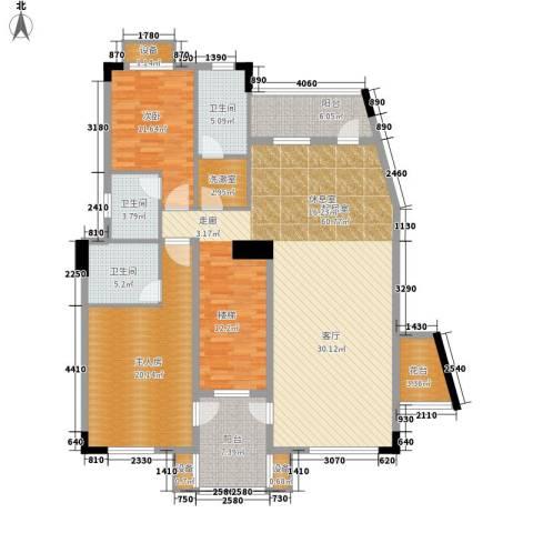 大运家园1室0厅3卫0厨145.00㎡户型图