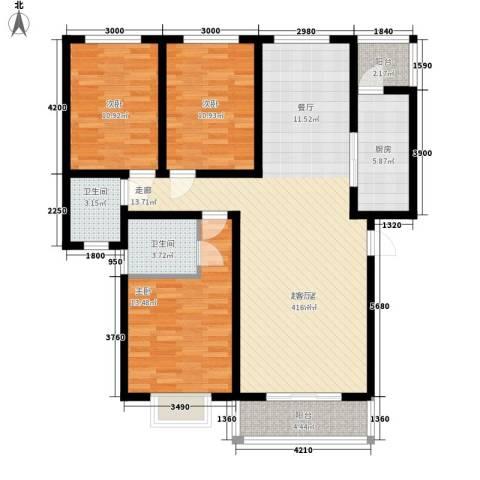 新悦花园3室0厅2卫1厨118.00㎡户型图