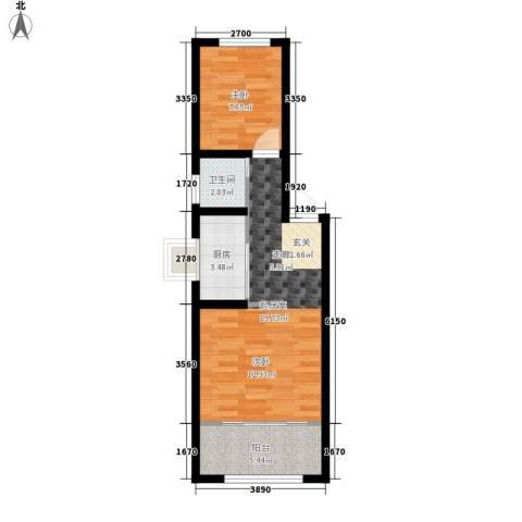 怡安嘉园二期1室0厅1卫1厨56.00㎡户型图