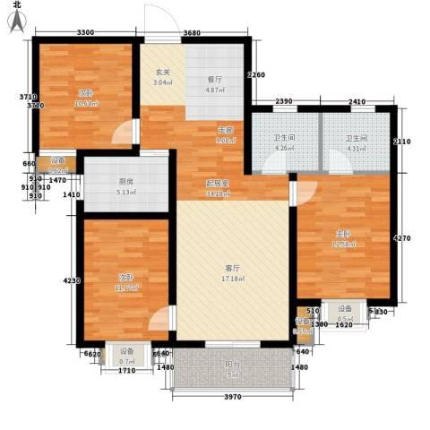 东城翡翠湾3室0厅2卫1厨119.00㎡户型图