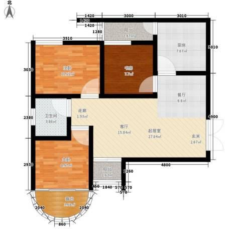 上林沣苑3室0厅1卫1厨100.00㎡户型图