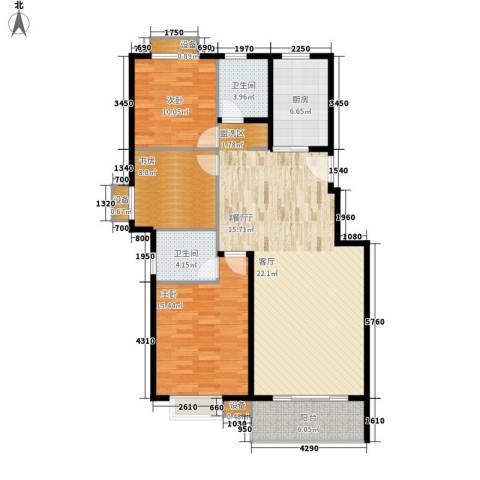红景佳苑3室1厅2卫1厨134.00㎡户型图