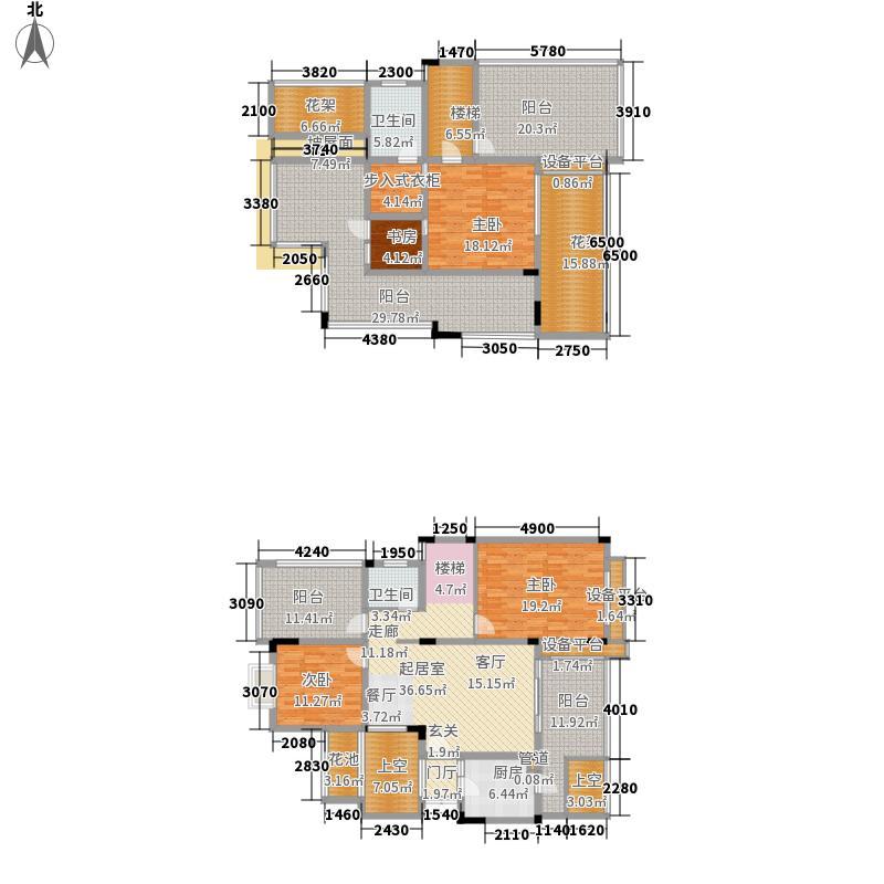 融汇江山融汇半岛香缇漫山6号楼跃层户型3室2厅
