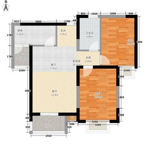 吉庆里增楼2室0厅1卫1厨98.00㎡户型图
