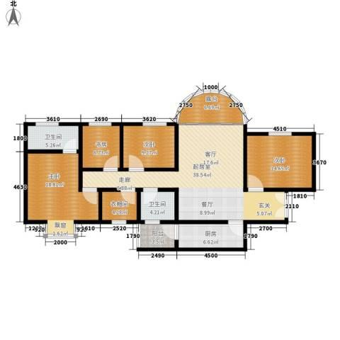 上林沣苑4室0厅2卫1厨160.00㎡户型图