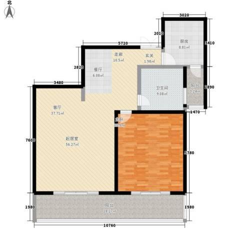 蒙特利名都城1室0厅1卫1厨136.00㎡户型图