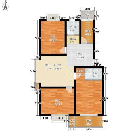 苏建艳阳居3室0厅2卫1厨114.00㎡户型图