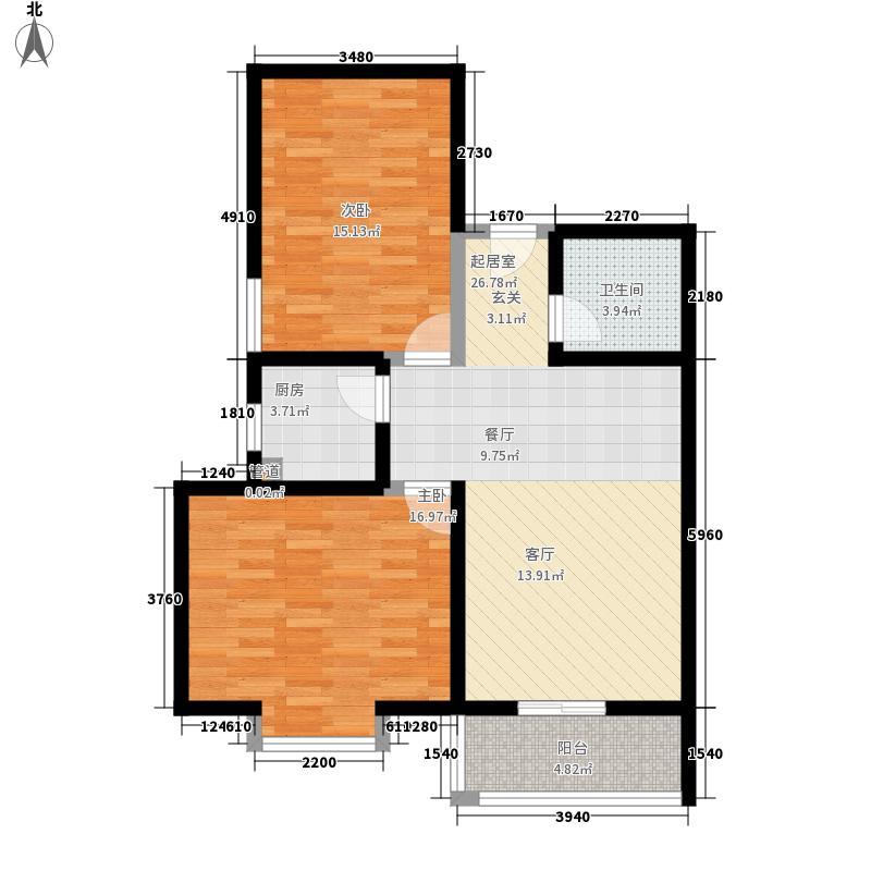 九华山路水利厅宿舍80.00㎡九华山路水利厅宿舍2室户型2室