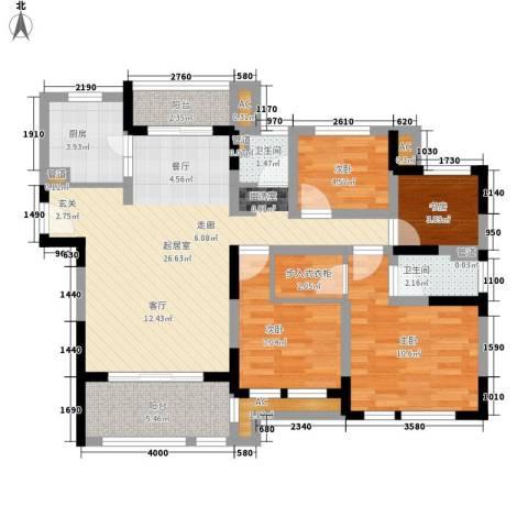 华润置地橡树湾4室0厅2卫1厨88.00㎡户型图