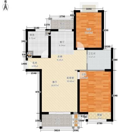 品家都市星城一期2室0厅1卫1厨96.00㎡户型图