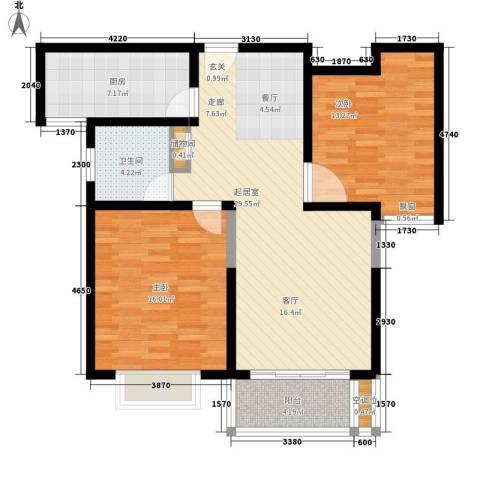 品家都市星城一期2室0厅1卫1厨87.00㎡户型图