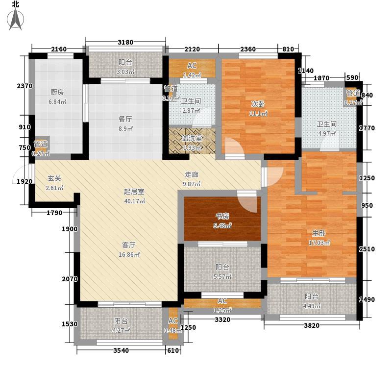 华润置地橡树湾130.00㎡华润置地橡树湾户型图C3户型3室2厅2卫1厨户型3室2厅2卫1厨