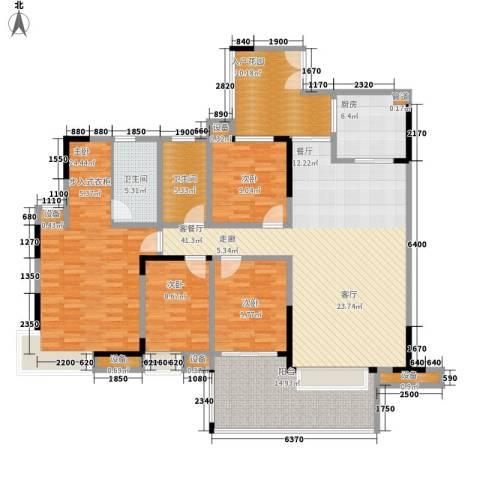 天一名居4室1厅2卫1厨153.00㎡户型图