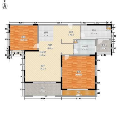 华润置地橡树湾2室0厅1卫1厨166.00㎡户型图