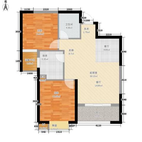 罗马西西里2室0厅1卫1厨94.00㎡户型图