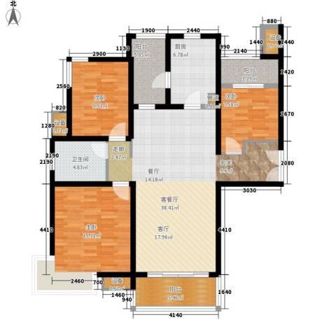 大观天下3室1厅1卫1厨114.66㎡户型图