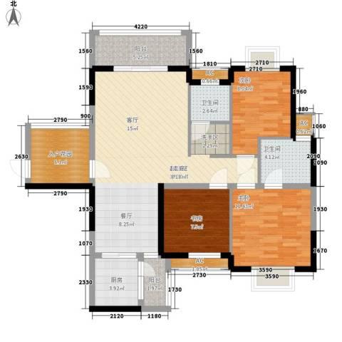 钱隆樽品二期3室0厅2卫1厨111.00㎡户型图