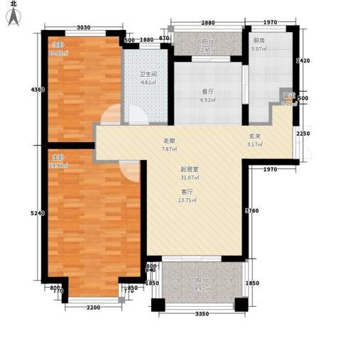 曹路家苑2室0厅1卫1厨89.00㎡户型图