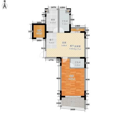 颐泽苑1室0厅2卫1厨81.00㎡户型图