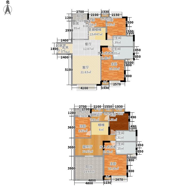 紫金庄园230.65㎡紫金庄园户型图3栋3单元1号户型18层5室3厅2卫1厨户型5室3厅2卫1厨