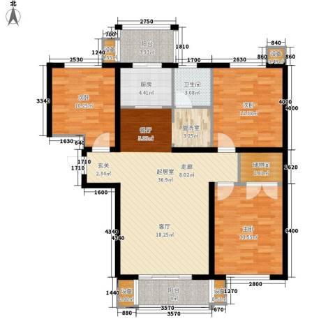 湖岸新城3室0厅1卫1厨104.00㎡户型图