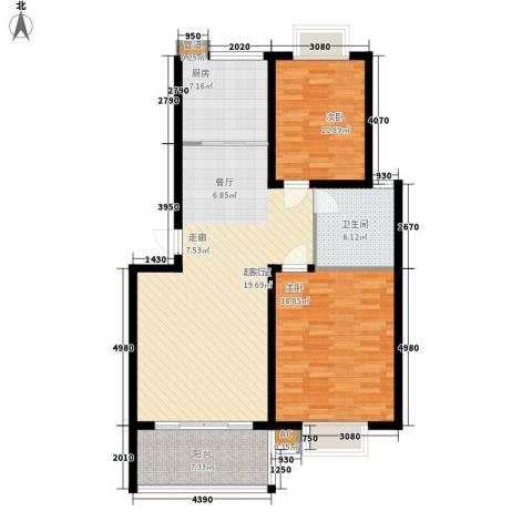 新悦花园2室0厅1卫1厨95.00㎡户型图