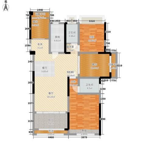 香榭一品2室1厅2卫1厨131.00㎡户型图