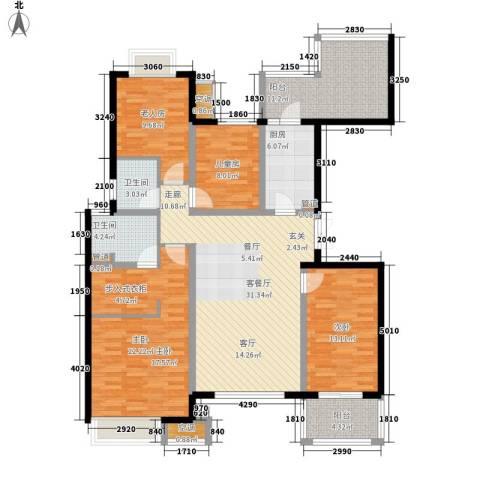 无锡万达文化旅游城4室1厅2卫1厨133.00㎡户型图