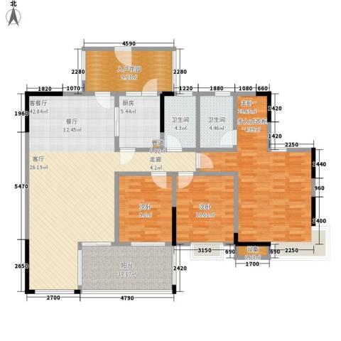 天一名居3室1厅2卫1厨137.00㎡户型图