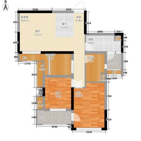 南山・苏迪亚诺2室0厅1卫1厨84.00㎡户型图