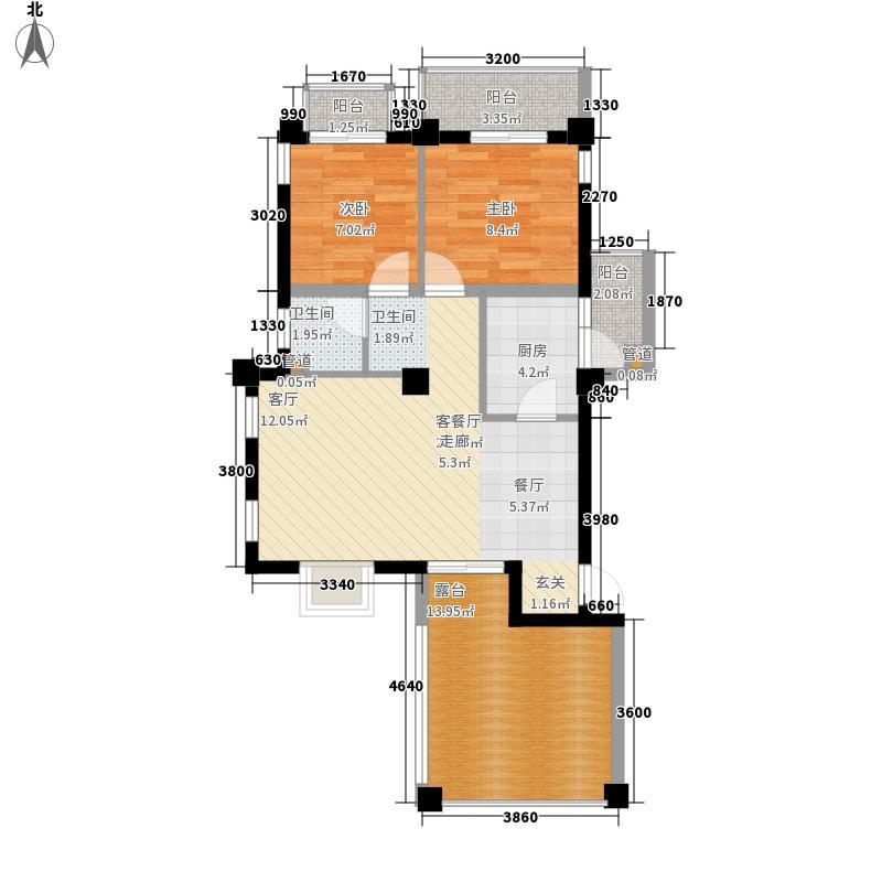 百年凯旋花园78.52㎡百年凯旋花园户型图C52室2厅1卫1厨户型2室2厅1卫1厨