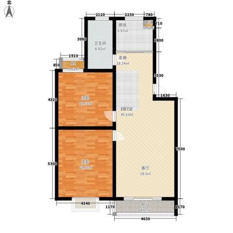 新悦花园2室0厅1卫1厨110.00㎡户型图