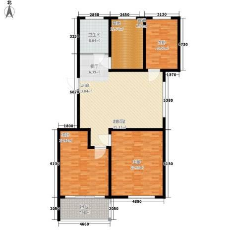 新悦花园3室0厅1卫1厨153.00㎡户型图