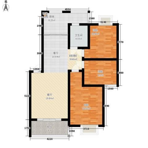 森隆蓝波湾3室0厅1卫1厨102.00㎡户型图