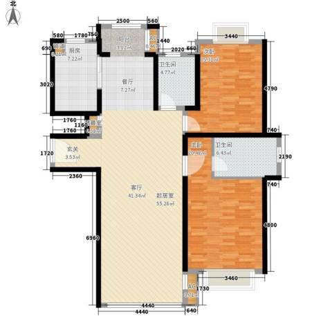 春天花园2室0厅2卫1厨123.00㎡户型图