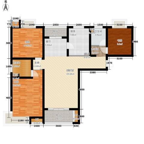 自由都市(乐活家园)3室0厅2卫1厨122.00㎡户型图