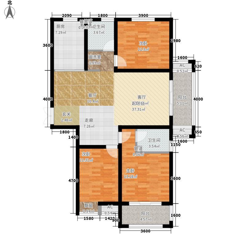东湖瑞景137.01㎡一期2号楼D户型