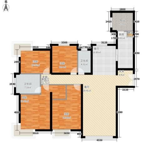 翠湖温泉花园4室1厅2卫1厨189.00㎡户型图
