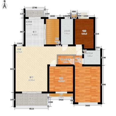 森隆蓝波湾3室0厅2卫1厨159.00㎡户型图