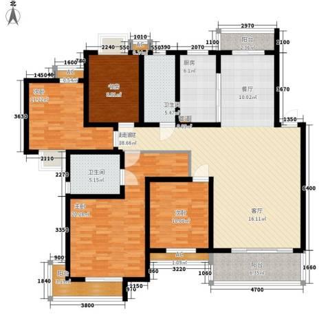 森隆蓝波湾4室0厅2卫1厨184.00㎡户型图