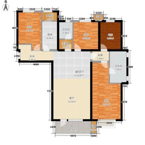 河畔新城・名门组团4室1厅2卫1厨170.00㎡户型图