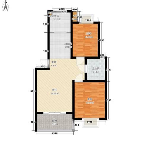 森隆蓝波湾2室0厅1卫1厨89.00㎡户型图