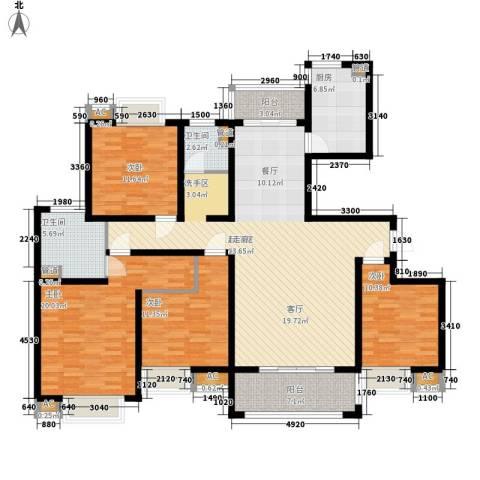 自由都市(乐活家园)4室0厅2卫1厨148.00㎡户型图