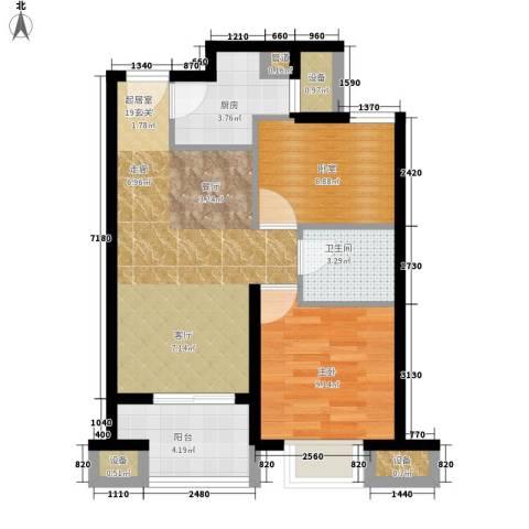 建大花园1室0厅1卫1厨72.00㎡户型图