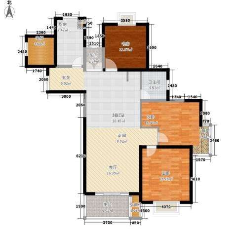品家都市星城一期3室0厅1卫1厨171.00㎡户型图