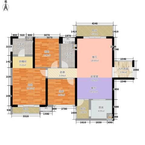 中航天逸3室0厅2卫1厨115.00㎡户型图