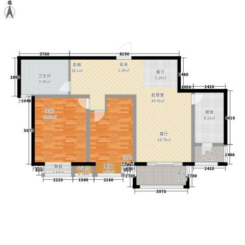 好世鹿鸣苑2室0厅1卫1厨106.06㎡户型图