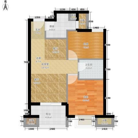 建大花园1室0厅1卫1厨70.00㎡户型图