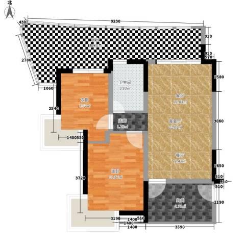龙江秀水园2室1厅1卫0厨100.00㎡户型图