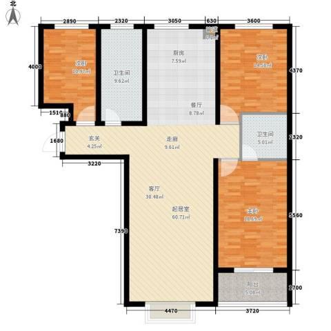 朗月蓝庭3室0厅2卫0厨174.00㎡户型图
